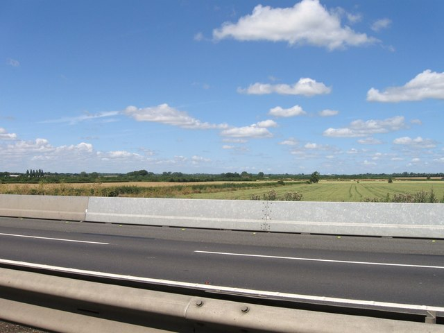 Looking north from A14