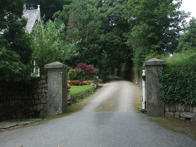Entrance to Trewidden Gardens