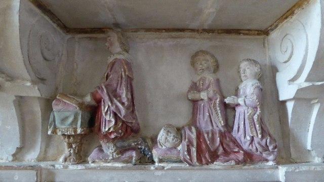 Detail on the Vaulx memorial