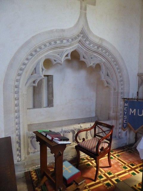 Tomb in Meysey Hampton church
