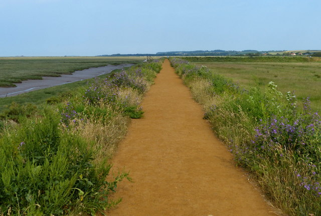 Norfolk Coast Path at the Holme Dunes National Nature Reserve
