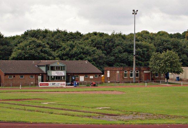 Berry Hill Park Athletics Track, Mansfield, Notts.