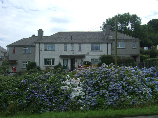 Houses on Polmeere Road