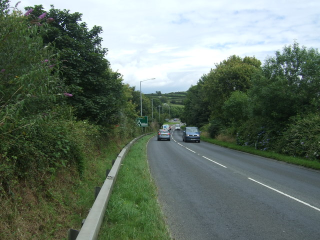 A30 towards Redruth