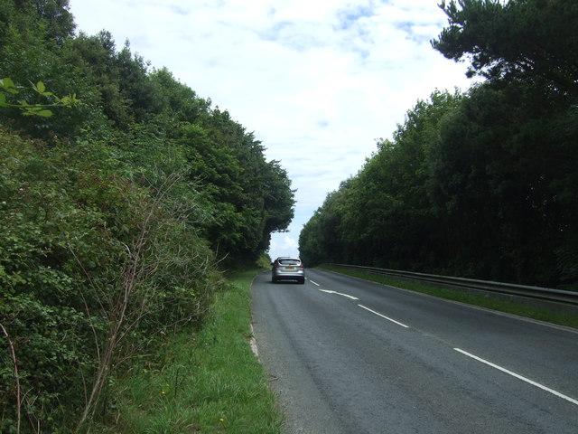 Heading south east on the A30