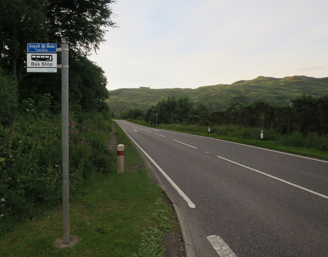 Bus stop, A828