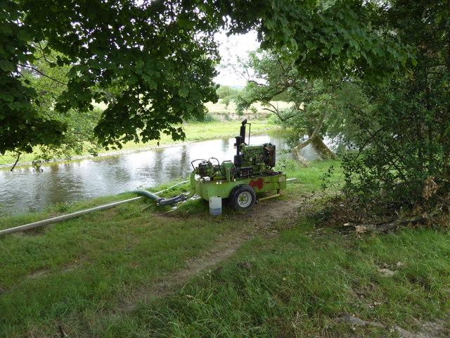 Pump beside the River Severn