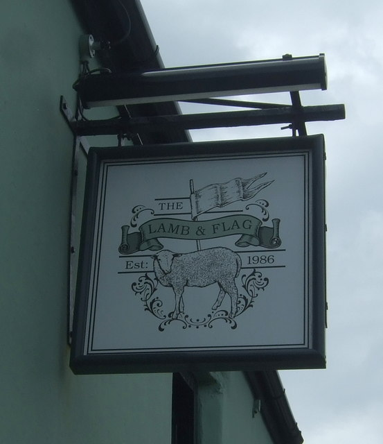 Sign for the Lamb & Flag, Rose-an-Grouse