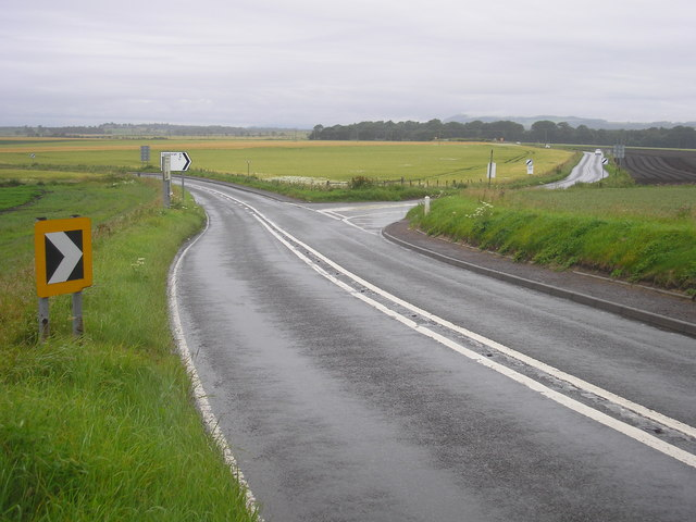 Road junction near Pittenweem