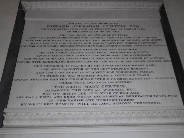 St Mary Magdalene, Wartling: memorial (vi)