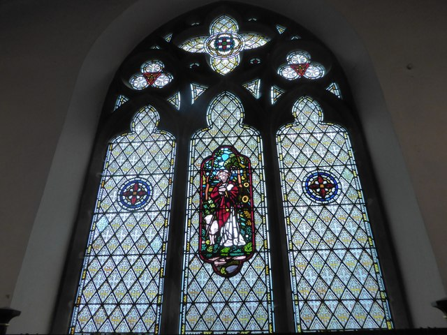 St Mary Magdalene, Wartling: stained glass window (ii)