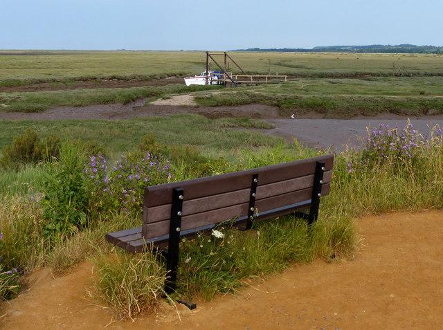Seat overlooking Thornham Creek