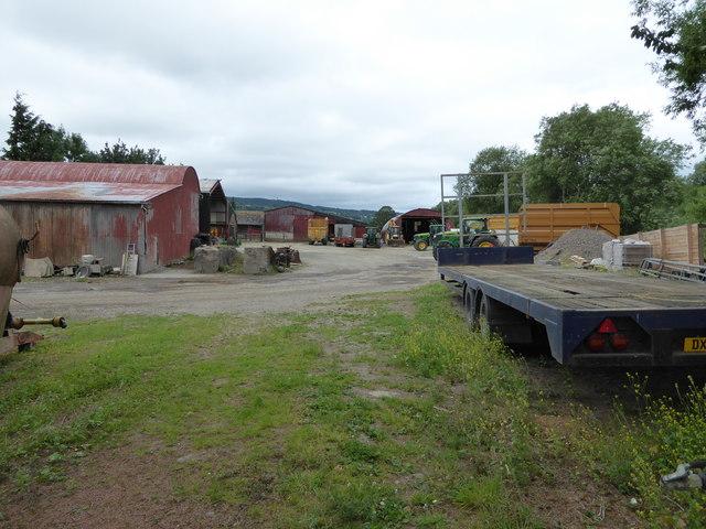 Large farm yard at Dyffryn farm