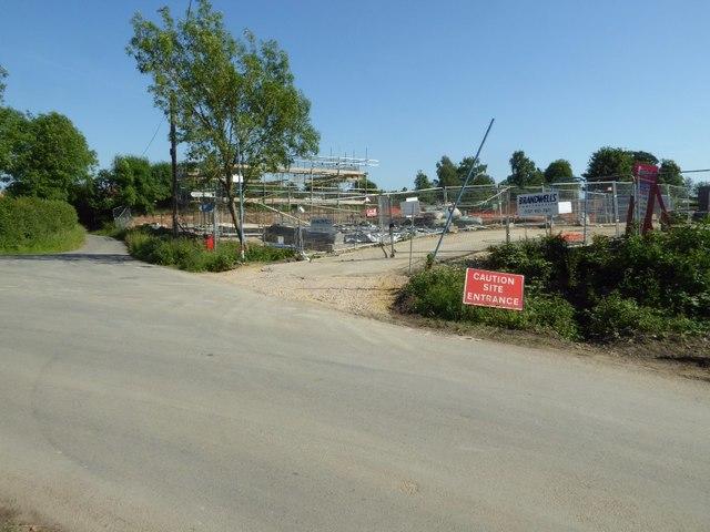 Building site entrance