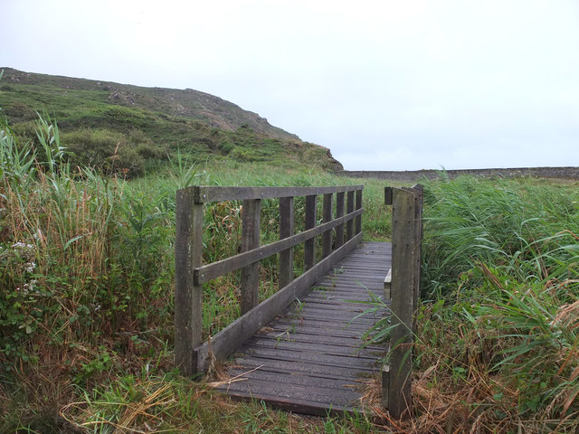 Footbridge at Kennack Towans
