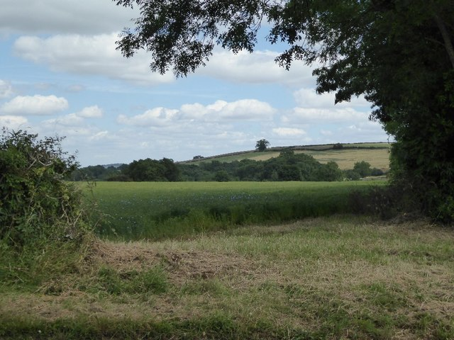 Farmland near Wheelbarrow Castle