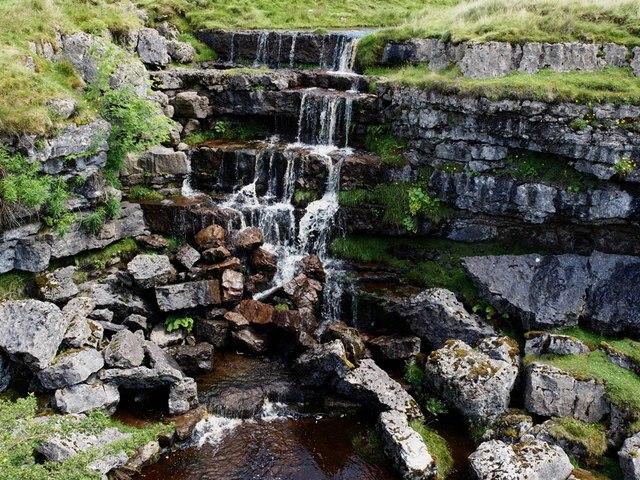 Waterfall at Hunt Pot