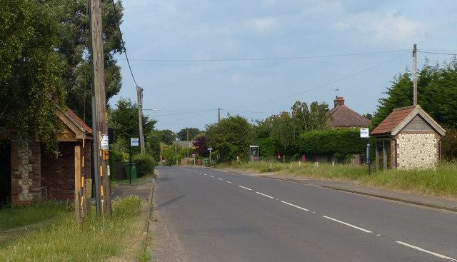 The A149 Main Road through Holme next the Sea
