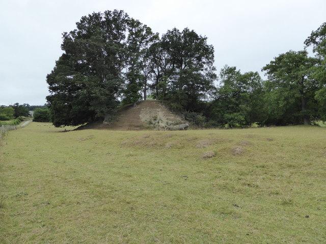 Upper Luggy castle motte