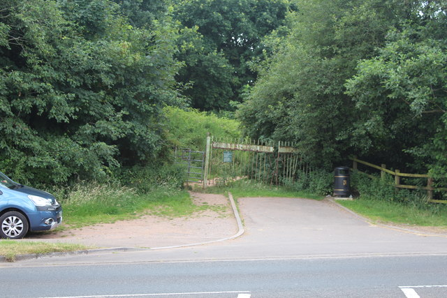 Northwest entrance to Gaer Hill Fort