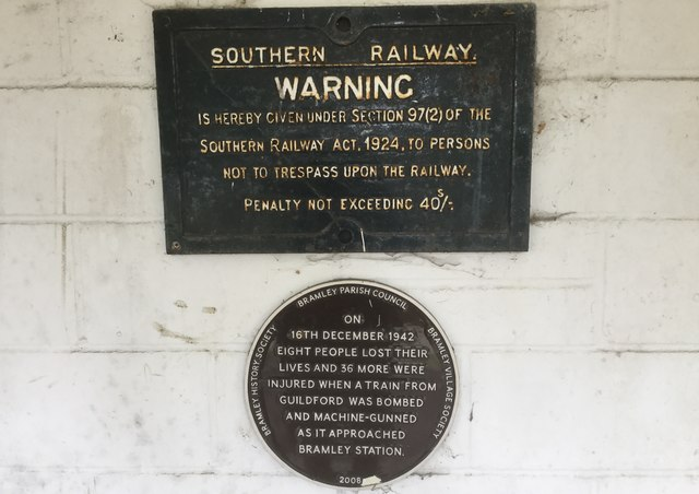 Plaque at old Railway Station