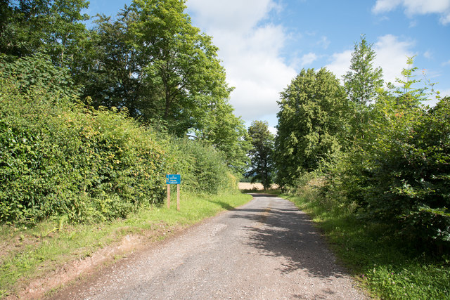 Private road on Lowther Estate