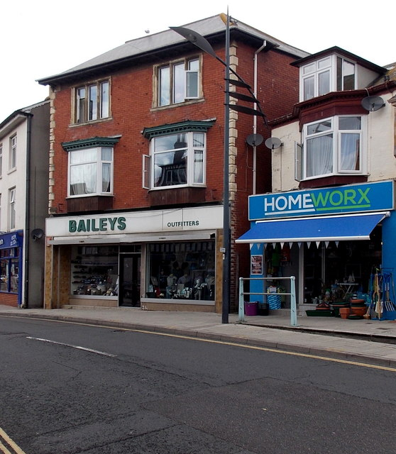 Baileys Outfitters and Homeworx in Exmouth town centre