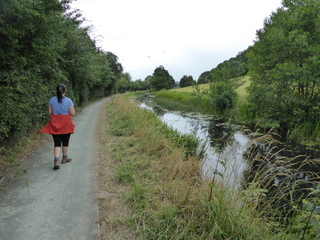 On the towpath of the Monty near Berriew