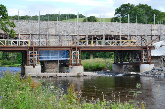Tweed Bridge restoration in progress