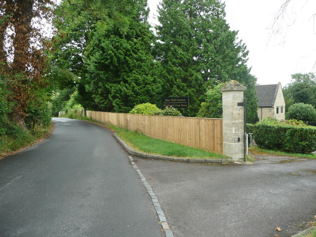 The lane through Randwick at the More Hall Convent Care Home