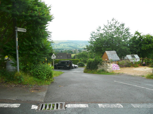 The lane to the village hall at Chapel Fields, off The Lane, Randwick