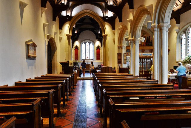 Chenies, St. Michael's Church: The nave