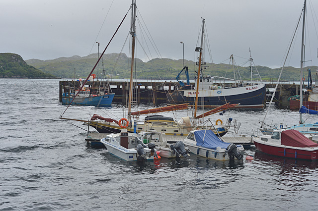 A wild day at Charlestown harbour, Gairloch