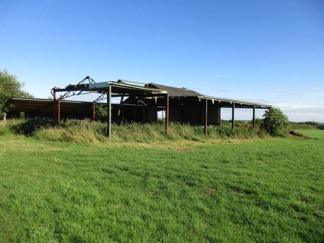 Derelict farm buildings near Upton