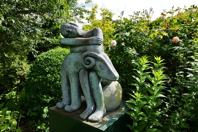 Chenies Manor House: Garden sculpture 1