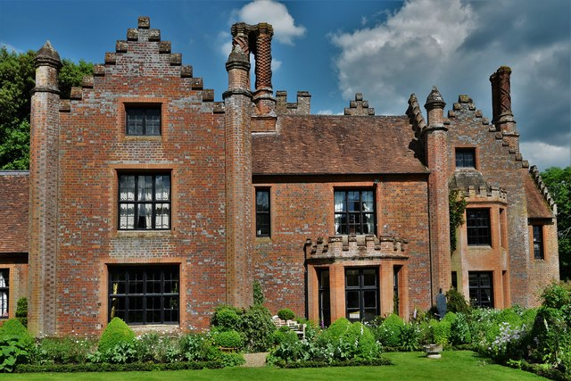 Chenies Manor House, a c15th and c16th brick building