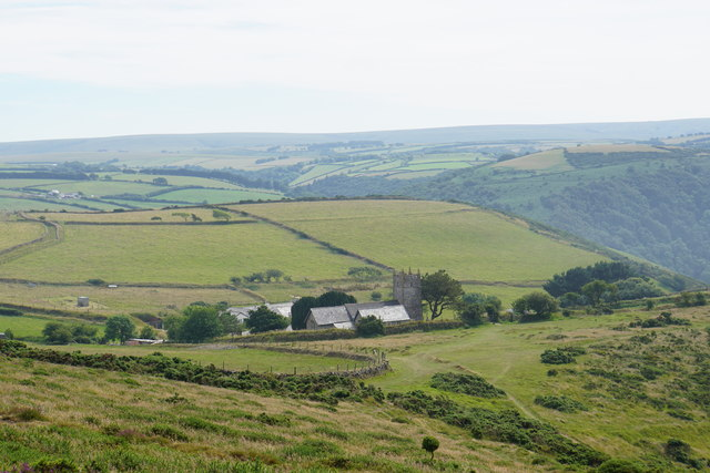 Countisbury from Butter Hill