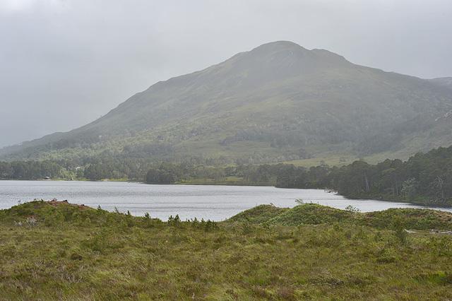 Loch Clair in the rain
