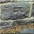 SK3547 : Bench mark, 36 Penn Street, Belper by Alan Murray-Rust
