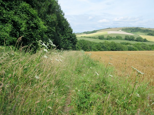 Bridleway with view of South Downs