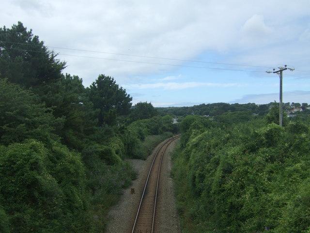 Railway towards St Ives