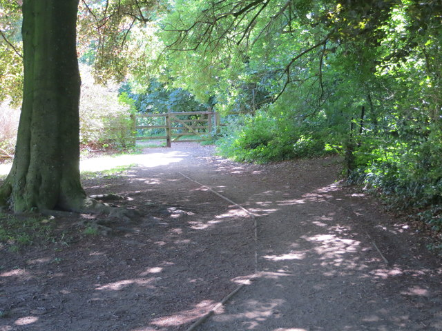 Footpath along the north bank of the River Wharfe in Ilkley