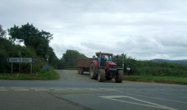 Tractor on Trenhayle Lane