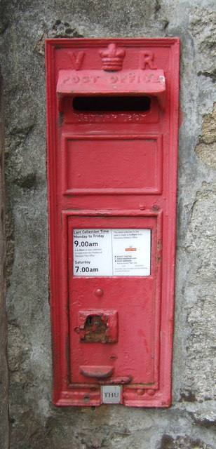 Victorian postbox on Fore Street, Marazion