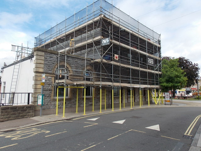 TSB Exmouth under scaffolding