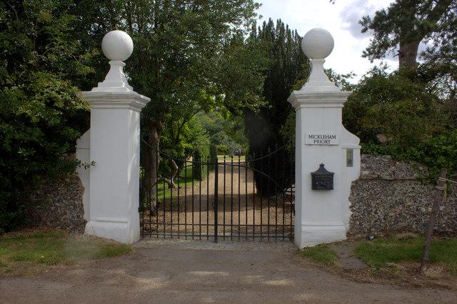Mickleham Priory gates