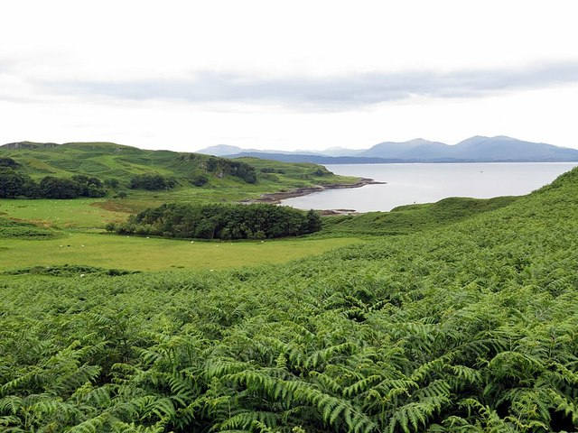 Land above Slatrach Bay, Kerrera