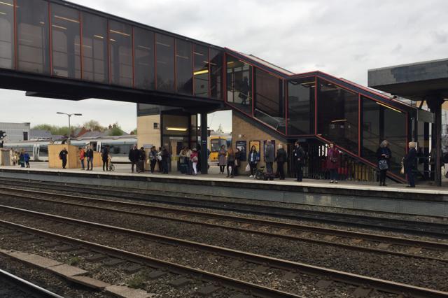 Rebuilt footbridge, Oxford station