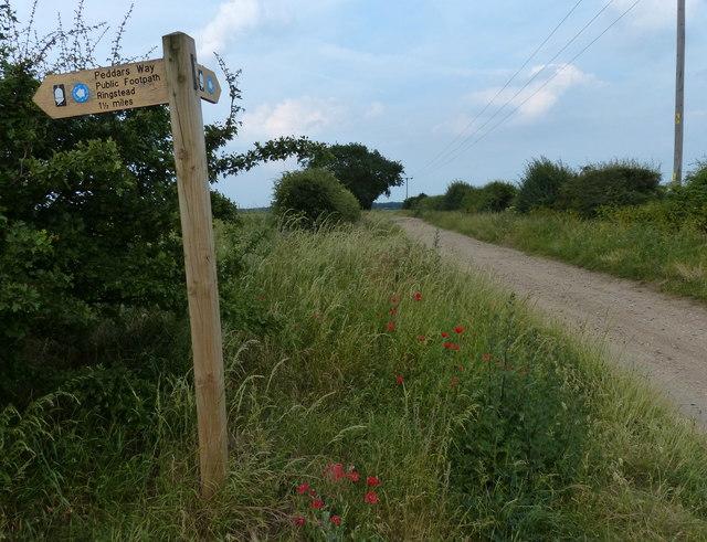The Peddar's Way north of Sedgeford