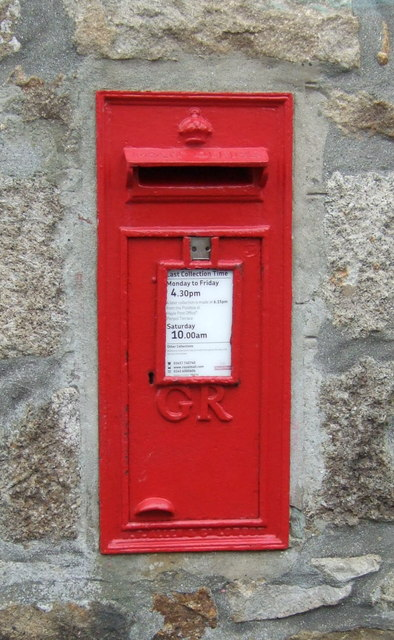 George V postbox, St Erth Post Office